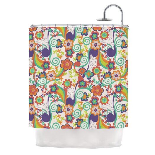 KESS InHouse Printemps Polyester Shower Curtain