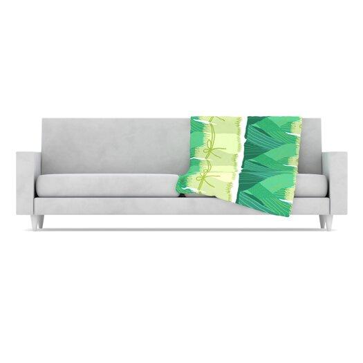 KESS InHouse Leeks Fleece Throw Blanket