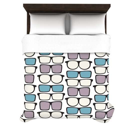 KESS InHouse Spectacles Geek Chic Duvet Cover