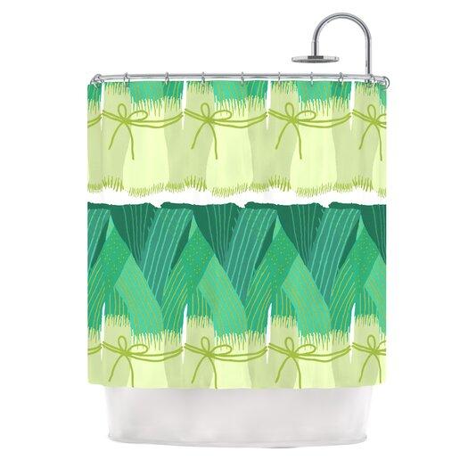 KESS InHouse Leeks Polyester Shower Curtain