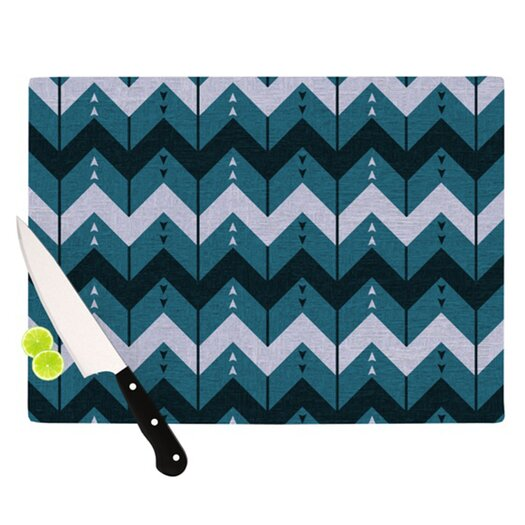 KESS InHouse Chevron Dance Cutting Board