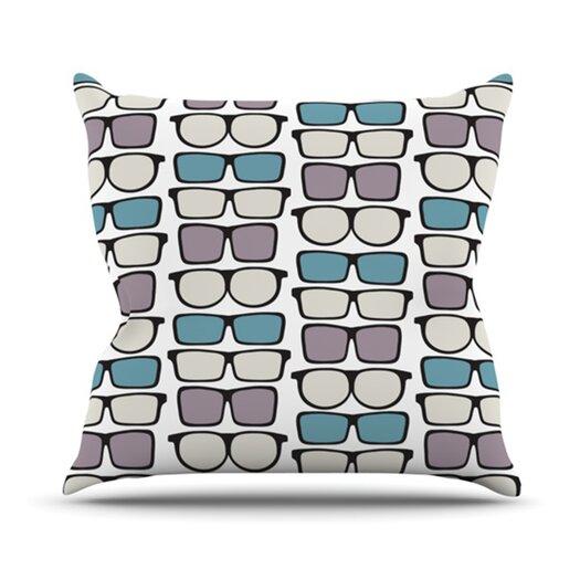 KESS InHouse Spectacles Geek Chic Throw Pillow
