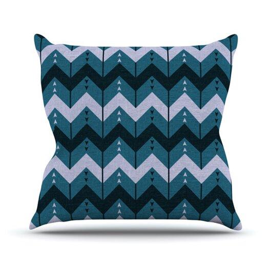 KESS InHouse Chevron Dance Throw Pillow