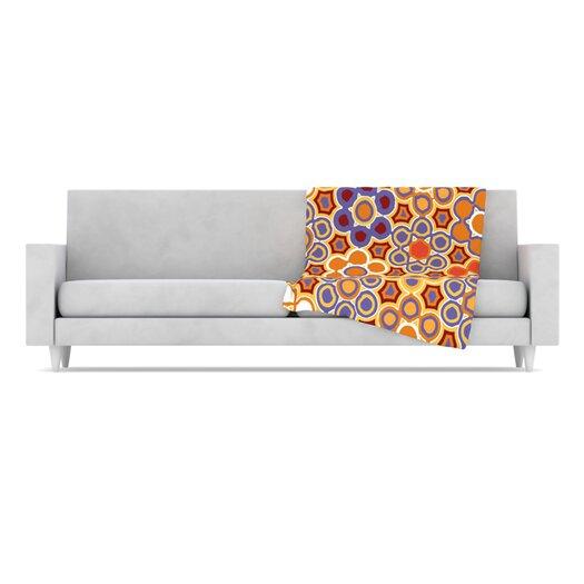 KESS InHouse Flower Garden Fleece Throw Blanket