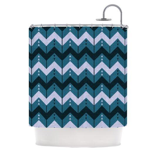 KESS InHouse Chevron Dance Polyester Shower Curtain