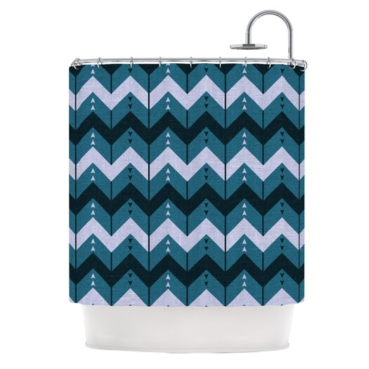 KESS InHouse Chevron Dance Polyester Shower Curtain