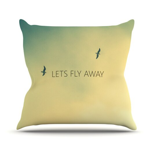 KESS InHouse Let's Fly Away  Throw Pillow