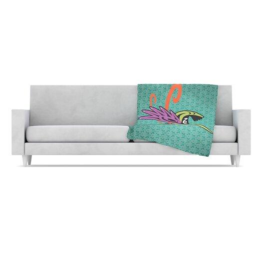 KESS InHouse Hummingbird Friends Fleece Throw Blanket