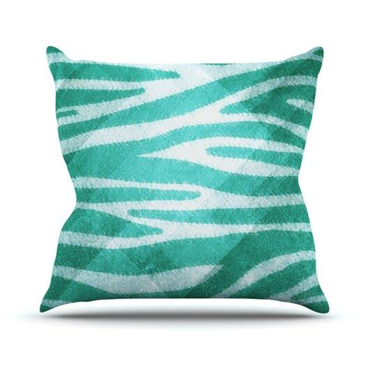 KESS InHouse Zebra Texture Throw Pillow