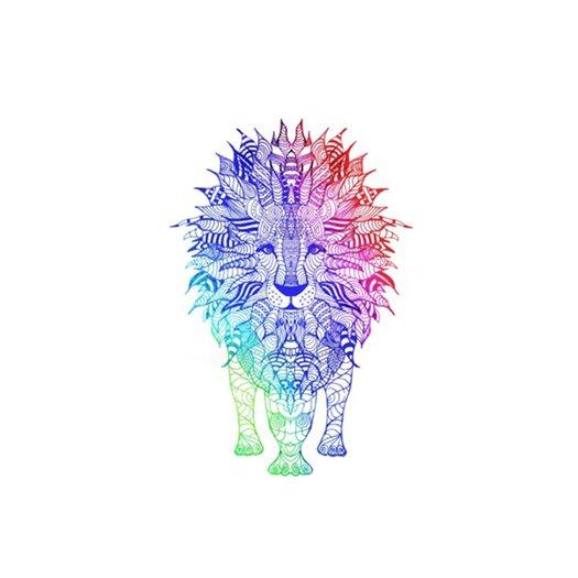 KESS InHouse Rainbow Lion Placemat
