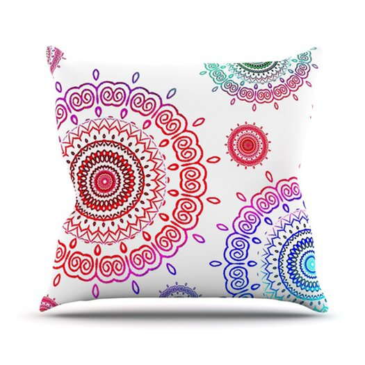 KESS InHouse Rainbow Infinity Throw Pillow