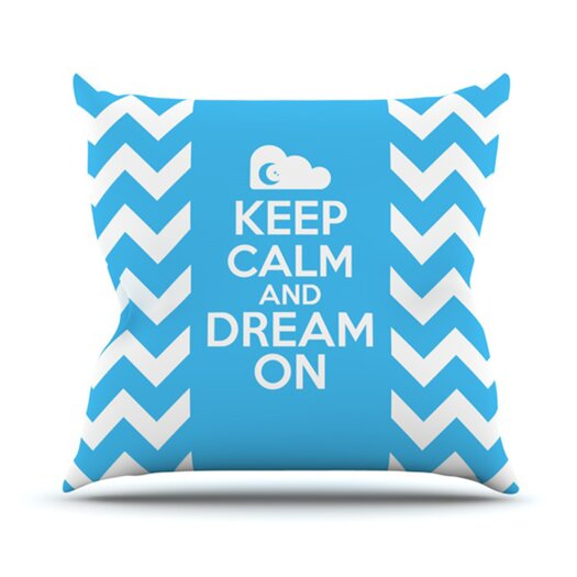 KESS InHouse Keep Calm Throw Pillow