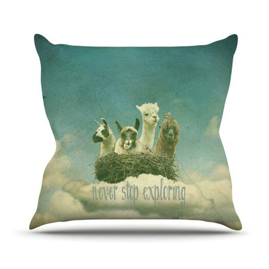 KESS InHouse Never Stop Exploring Throw Pillow