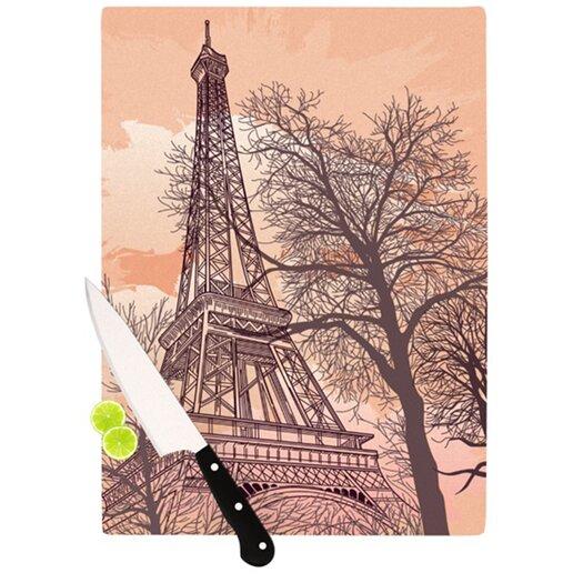 KESS InHouse Eiffel Tower Cutting Board