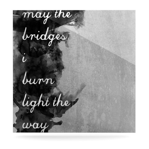 KESS InHouse Bridges by Skye Zambrana Textual Art Plaque