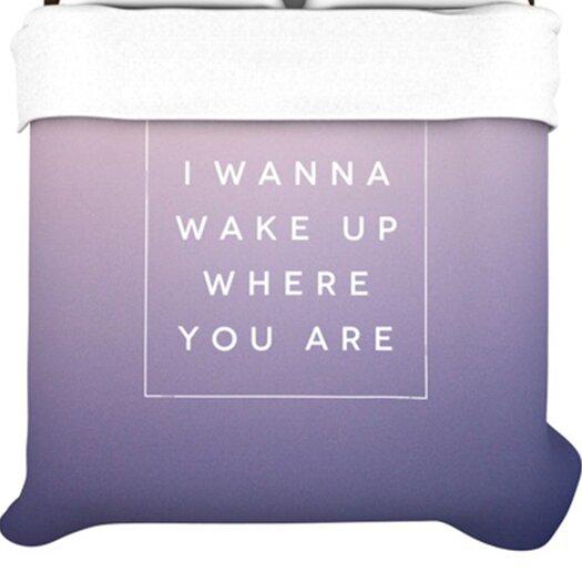 KESS InHouse Wake Up Duvet