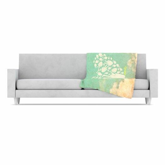 KESS InHouse Serenity Fleece Throw Blanket