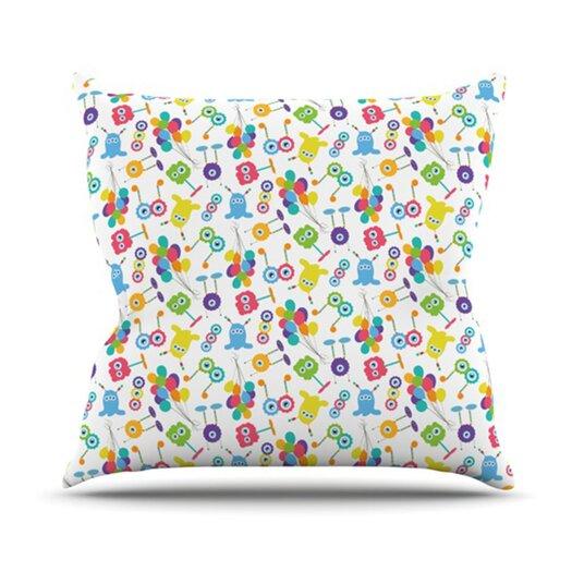 KESS InHouse Fun Creatures Throw Pillow