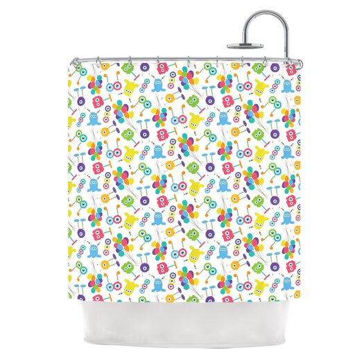 KESS InHouse Fun Creatures Polyester Shower Curtain