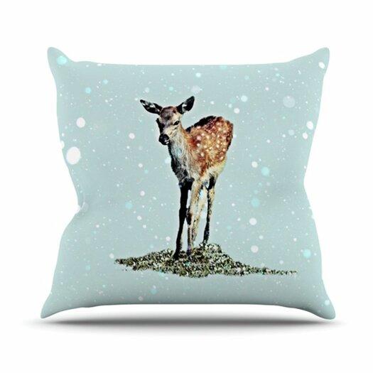 KESS InHouse Fawn Throw Pillow