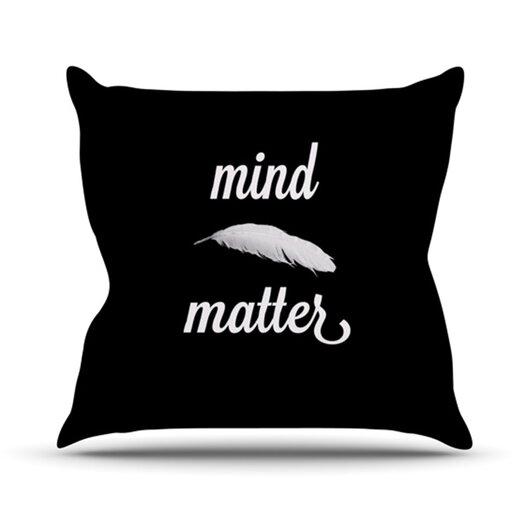 KESS InHouse Mind Over Matter Throw Pillow