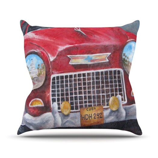 KESS InHouse Vintage in Cuba Throw Pillow