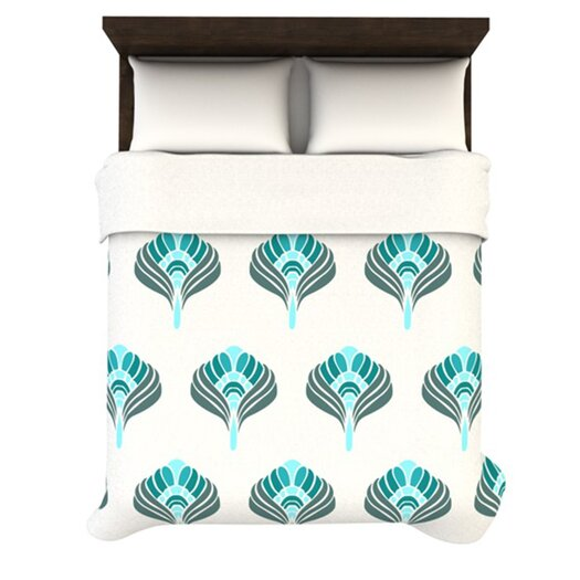 KESS InHouse Peacock Duvet Cover