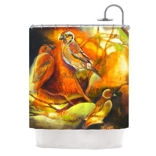 KESS InHouse Reflecting Light Polyester Shower Curtain