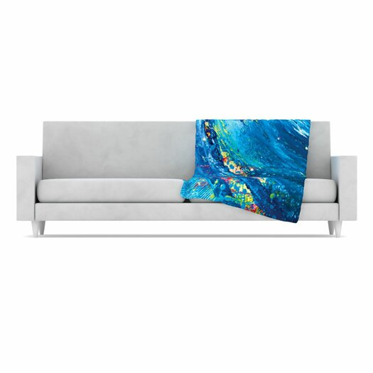 KESS InHouse Big Wave Fleece Throw Blanket