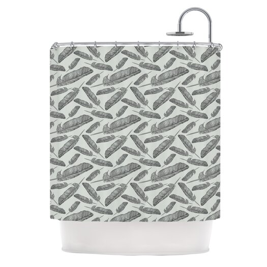 KESS InHouse Feather Scene Polyester Shower Curtain