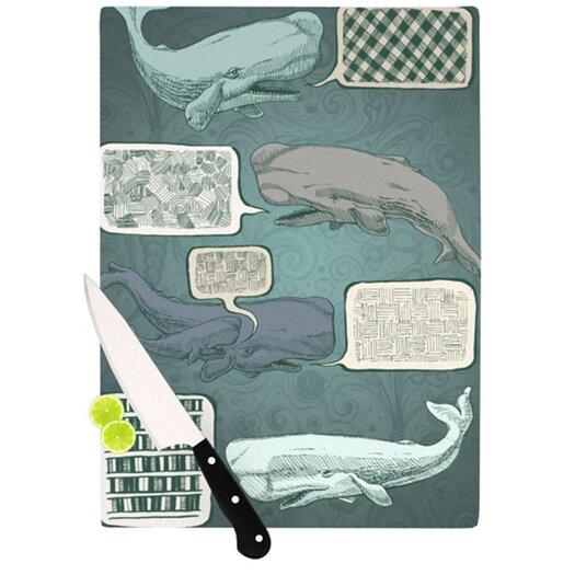 KESS InHouse Whale Talk Cutting Board