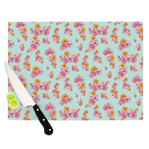 KESS InHouse Paper Flower Cutting Board