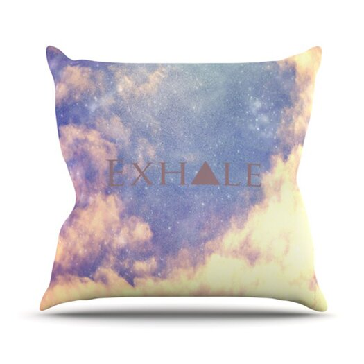 KESS InHouse Exhale Throw Pillow