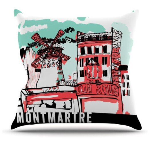 KESS InHouse Montmartre Throw Pillow