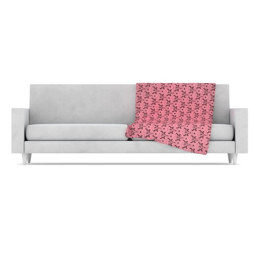 KESS InHouse Hummingbird Fleece Throw Blanket