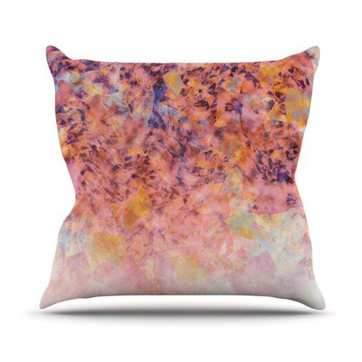 KESS InHouse Blushed Geometric Throw Pillow
