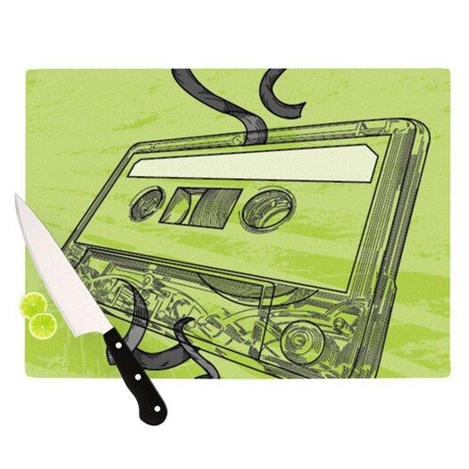 KESS InHouse Mixtape Cutting Board