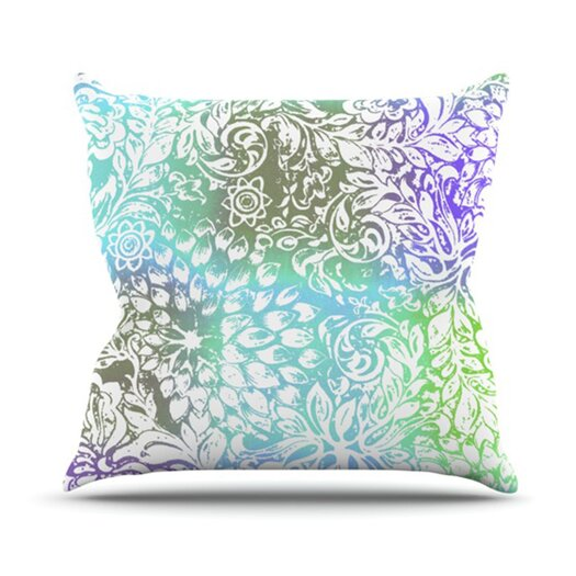 KESS InHouse Blue Bloom Softly for You Throw Pillow