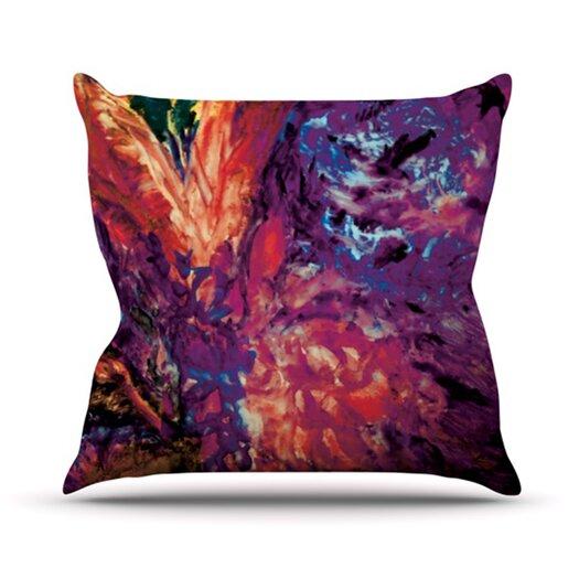 KESS InHouse Passion Flowers II Throw Pillow