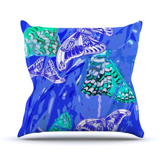 KESS InHouse Butterflies Party Throw Pillow