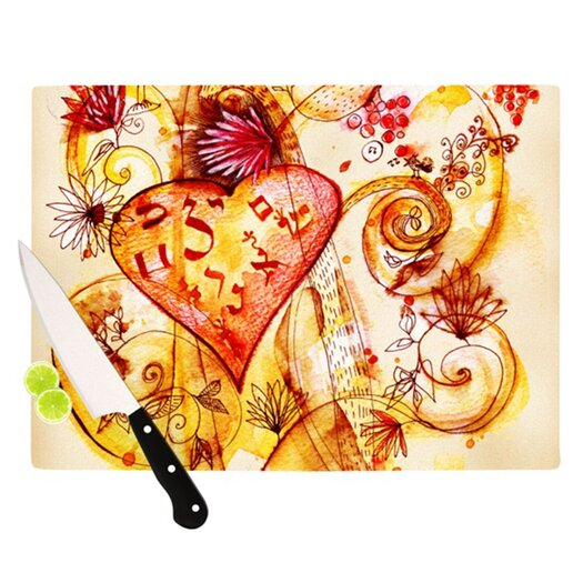 KESS InHouse Tree of Love Cutting Board
