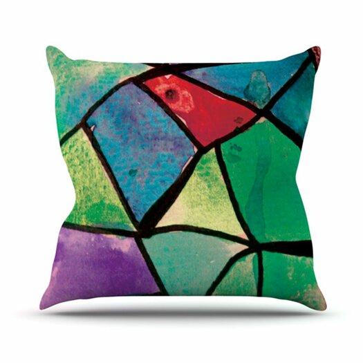KESS InHouse Stain Glass 1 Throw Pillow