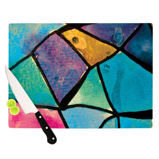 KESS InHouse Stain Glass 2 Cutting Board