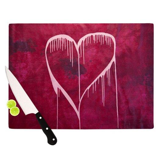 KESS InHouse Miss You Cutting Board