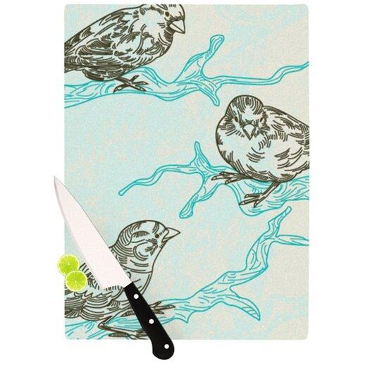 KESS InHouse Birds in Trees Cutting Board
