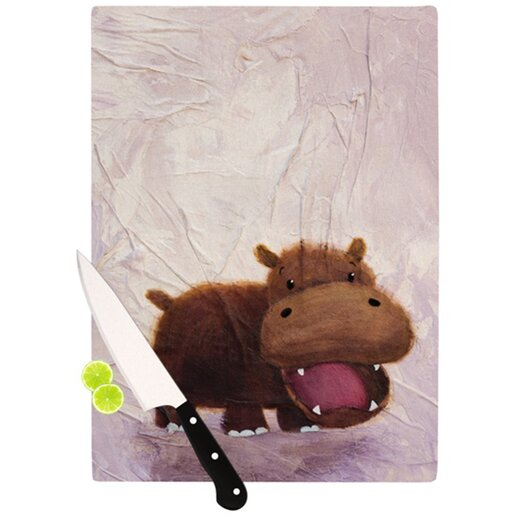 KESS InHouse The Happy Hippo Cutting Board