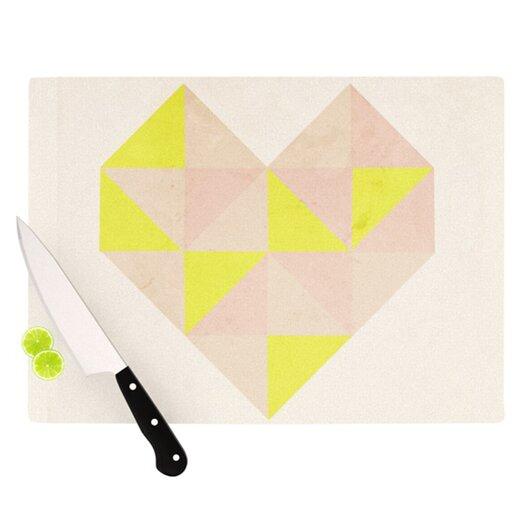 KESS InHouse Geo Heart Cutting Board