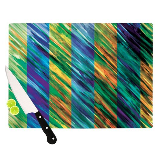 KESS InHouse Set Stripes II Cutting Board