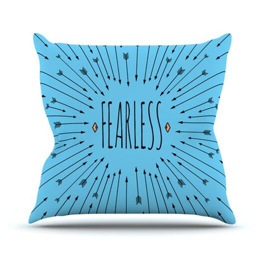 KESS InHouse Fearless Throw Pillow