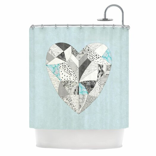 KESS InHouse Comheartment Polyester Shower Curtain